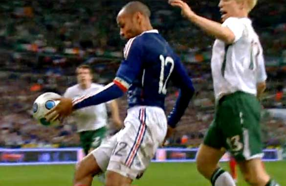 Thierry Henry and the offending handball.