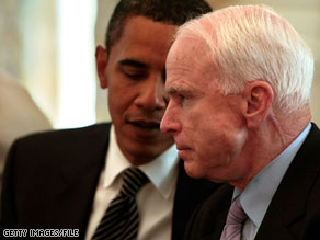John McCain says President Obama is leading a &#039;crusade to bankrupt America,&#039; in a new radio ad.