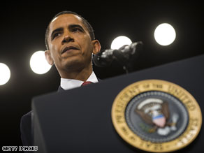 President Barack Obama said Tuesday that he was setting a timetable for the U.S. military commitment in Afghanistan to raise pressure for progress.