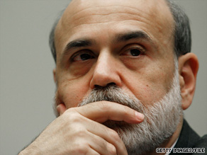A Vermont senator has placed a hold on the nomination of Federal Reserve Chairman Ben Bernanke, pictured.
