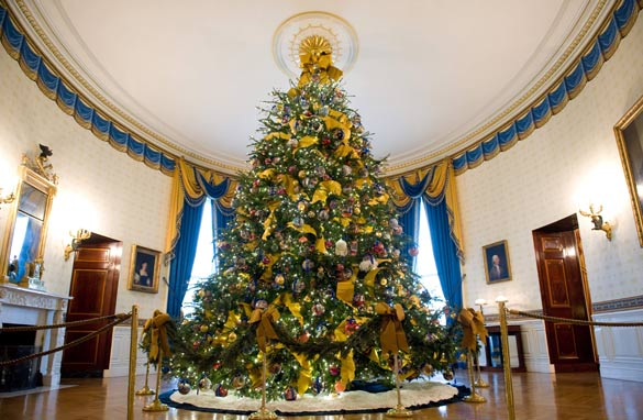 reflect rejoice renew is the theme of this years holiday decorations at the white house photo credit getty images - Obama Christmas Decorations