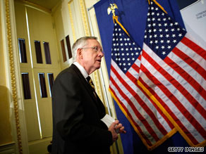 Approached by reporters Thursday afternoon, Senate Majority Leader Harry Reid invoked the name of embattled golfer Tiger Woods.