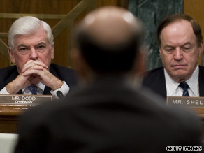 Sens. Dodd and Shelby spoke out Thursday about Fed Chairman Ben Bernanke.
