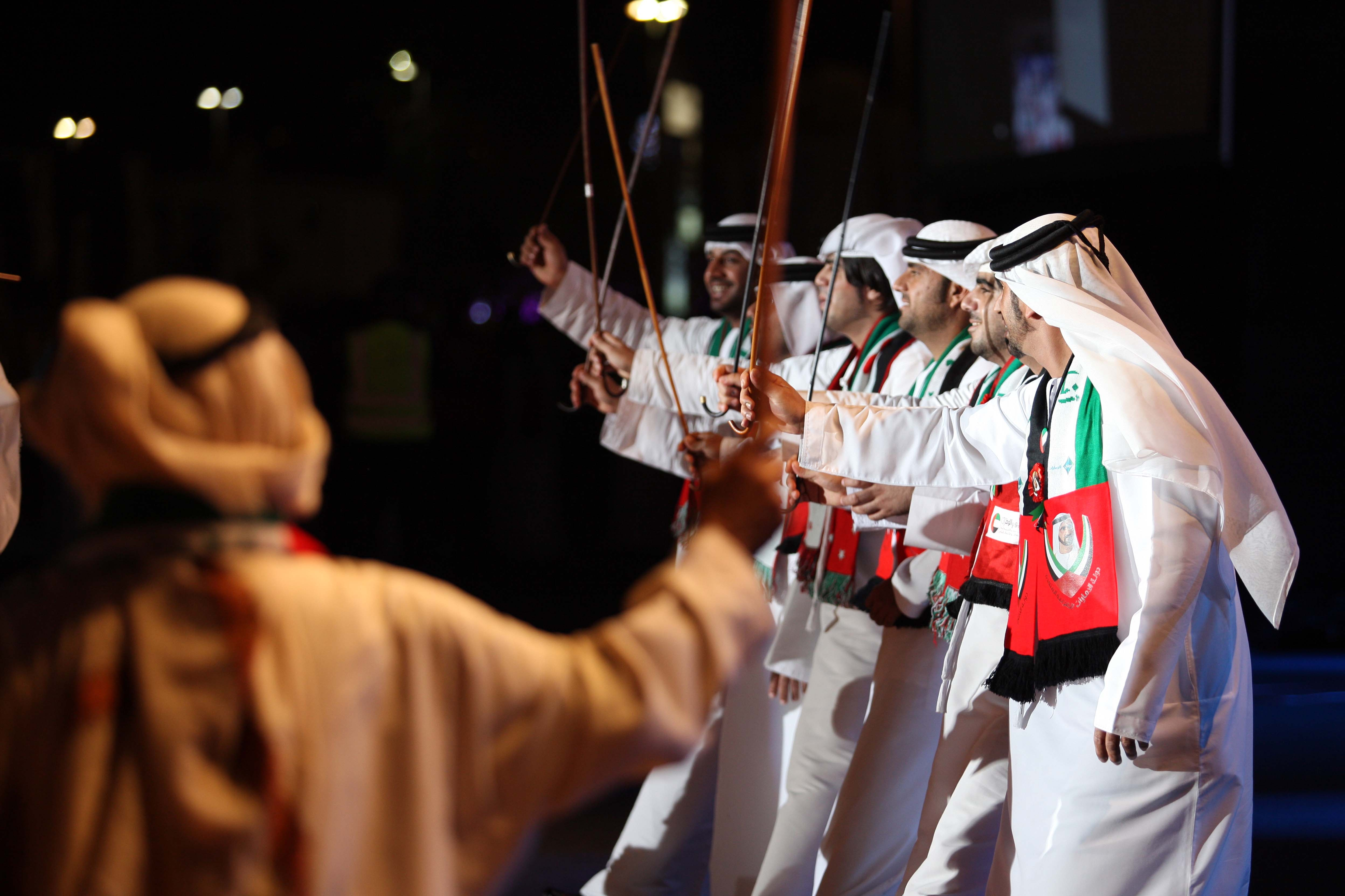 Emirati traditional celebratory dance. ADACH-Abu Dhabi