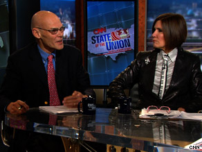On State of the Union Sunday, Republican strategist Mary Matalin said President Obama's Afghan surge is 'a reassertion of the Bush doctrine.'