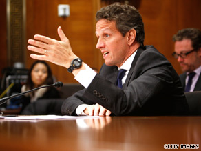 Treasury Secretary Geithner defended the federal government&#039;s bailout of AIG on Capitol Hill Thursday.