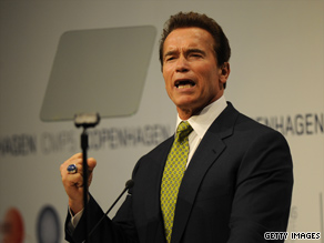  California Gov. Arnold Schwarzenegger is questioning the motives of a felllow Republican, former Alaska Gov. Sarah Palin.