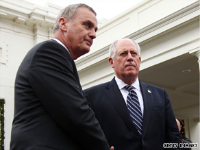 Obama National Security Adviser James Jones and Illinois Gov. Pat Quinn spoke with reporters Tuesday about the administration's decision to move some detainees to Illinois.