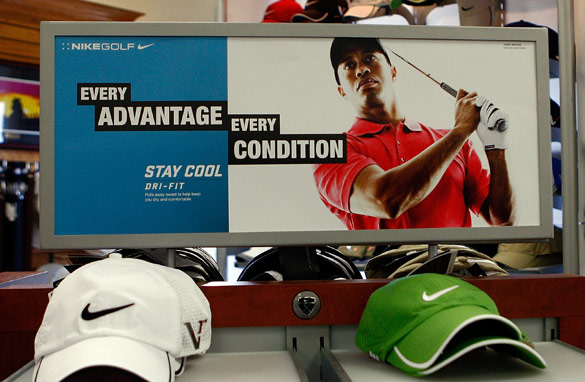 Tiger Woods has helped Nike build their brand in the competitive golf equipment sector.