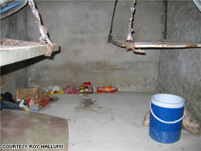 Inside Roy Hallums' cell.