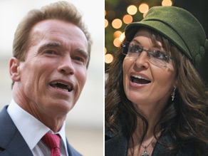 California Gov. Arnold Schwarzenegger took a swipe at former Alaska Gov. Sarah Palin on Friday.