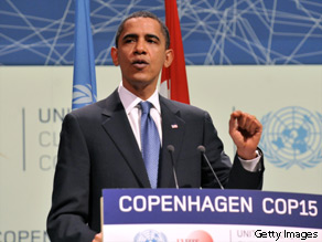 Before his speech Obama canceled a ceremonial meeting with the Danish PM for an emergency climate meeting.
