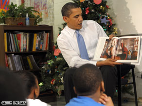 President Obama read &#039;The Polar Express&#039; to a group of 6 to 11-year-olds on Monday.