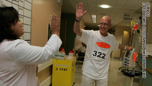 Patient runs hospital marathon