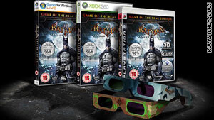 "This ""Batman"" video game looks different from the original if you play it with 3-D glasses."