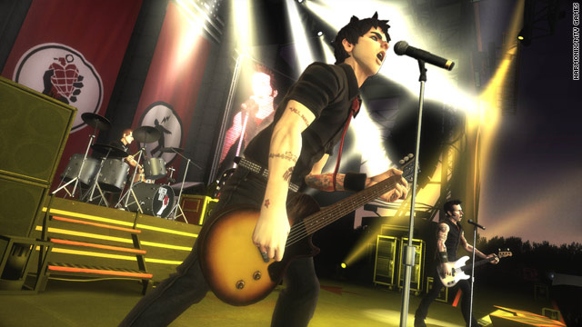 "An image from the new ""Green Day: Rock Band"" video game."