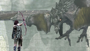 "In ""Shadow of the Colossus,"" gamers play a swordsman who must scale and slay brooding titans."