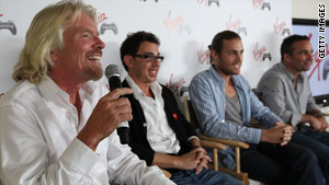 Richard Branson, left, and his partners expect to make money by charging a 12 percent fee on every gaming tournament.