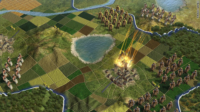 "New combat in ""Civilization V"" will allow ranged units, like these archers, to hit from a distance"