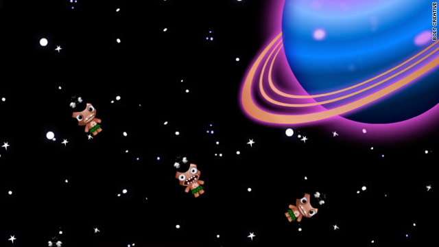 "The new ""Pocket God"" game, due this fall for the iPad, features pygmies floating in outer space."