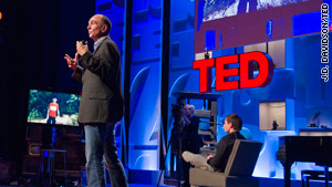 "Peter Molyneux demonstrates a prototypical Microsoft game called ""Milo"" at the TED Global conference."