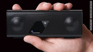 The Foxl V2 sound system retails for just under $200 and can fit in the palm of one's hand.