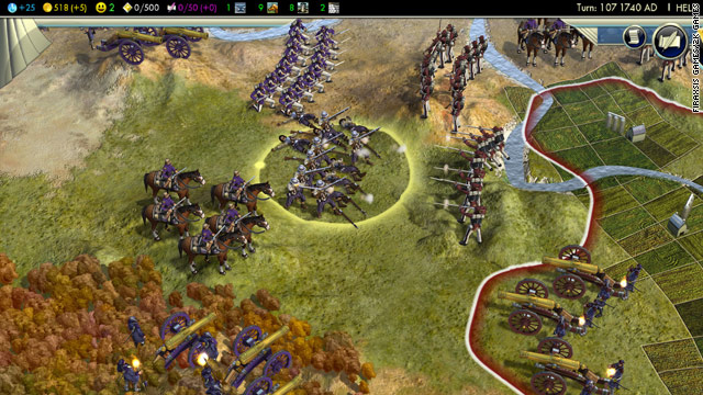 "Combat in ""Civilization V"" gets rid of stacking a bunch of troops in one place and emphasizes ranged weapons."