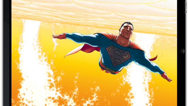 "As of June, DC Comics now offers ""Superman"" comics as apps for the iPad."