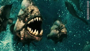 """Piranha 3D"" is a remake of a horror movie that tells the story of man-eating fish at a spring break hotspot."