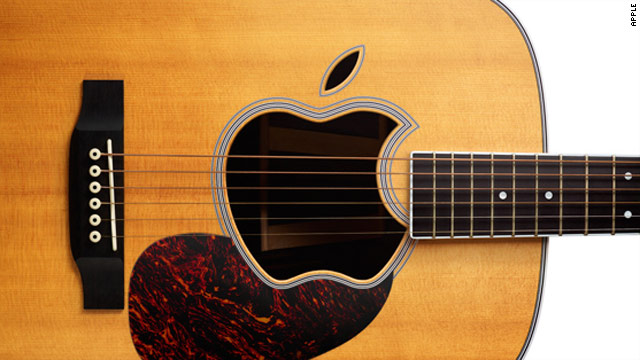 Apple's invitation to its September 1 event features a picture of an acoustic guitar complete with an Apple logo.