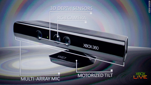 Microsoft's Kinect has a 3-D camera that makes your body the controller, eliminating the need for handheld hardware entirely.