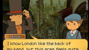 Professor Layton travels time to help out a mixed-up London of the future.