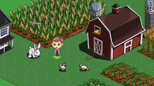 Virtual goods are used in &quot;FarmVille&quot; and other online games on social networks like Facebook.