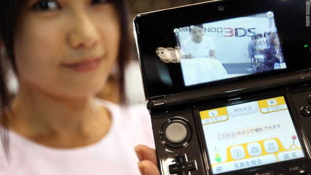 The Nintendo 3DS will be released in Japan in February and the United States and Europe in March, the company said.