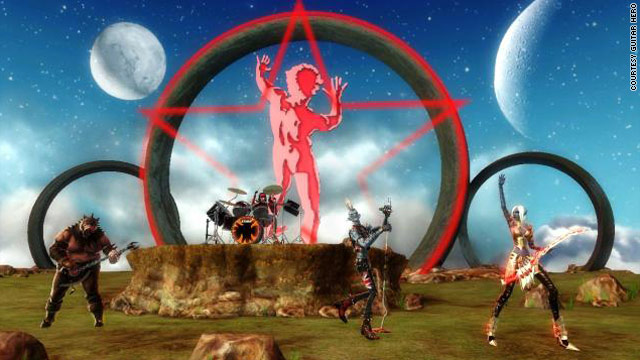 "Rush's ""starman"" takes center stage in ""Warriors of Rock's"" quest play mode."