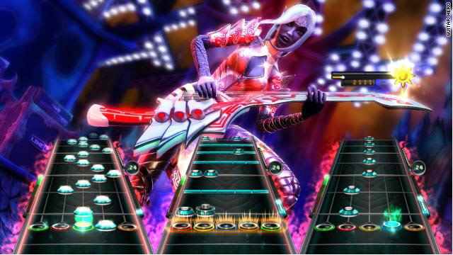 """""""Guitar Hero: Warriors of Rock"""" adopts a metal-tinged fantasy motif."""