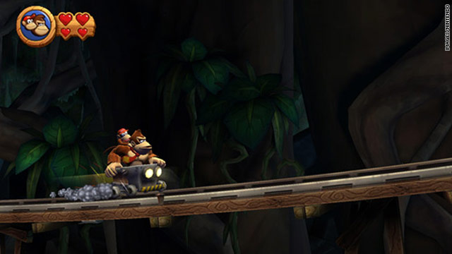 """Donkey Kong Country Returns"" takes the 16-bit classic and transplants its side-scrolling action to a modern context."