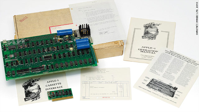 An original Apple-1 computer sold at auction for more than $200,000 on Tuesday.