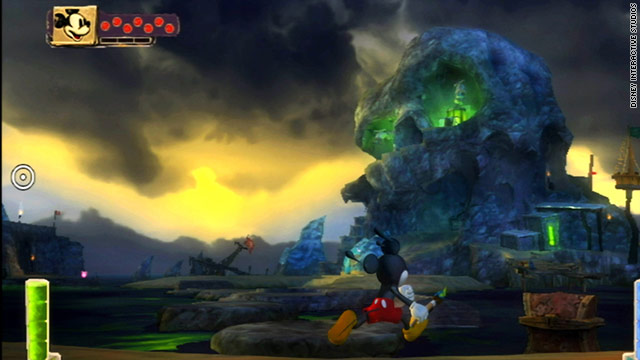 "In ""Disney Epic Mickey,"" players use a magic paintbrush to create or erase parts of the iconic character's world."