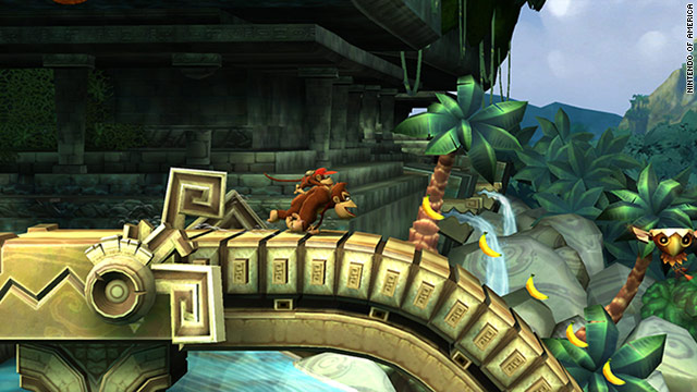 """Donkey Kong Country Returns"" is the first game in the franchise's history to let two players play at the same time."