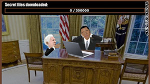 "In ""WikiLeaks: The Game,"" players become Julian Assange and try to steal documents from President Obama."