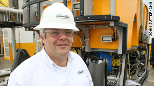 Mark Campbell, manufacturing manager at Oceaneering, says underwater ROVs are equipped to tackle many tasks.