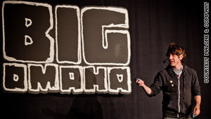 Foursquare co-founder Dennis Crowley speaks to tech industry workers at the Big Omaha convention in May.