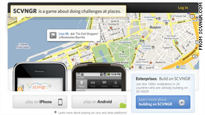 SCVNGR, a check-in-based app, has announced an integration with Facebook Places.