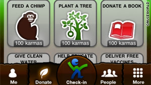 There are 30 charities to choose from in CauseWorld, which allows shoppers to donate companies' money.