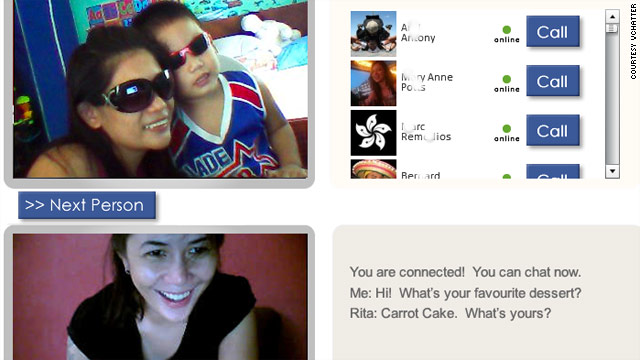 Much like Chatroulette, vChatter sets people up for random video chats online.