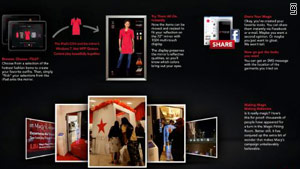 "Shoppers can digitally ""try on"" clothes at Macy's flagship store in New York."
