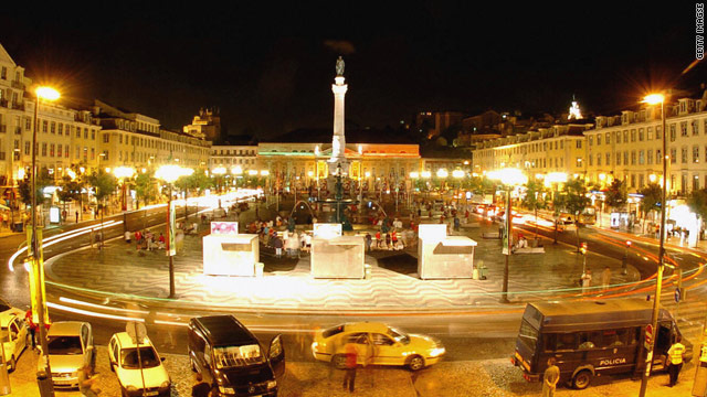 The lights of Lisbon: Around 45 percent of Portugal's power now comes from renewable sources.