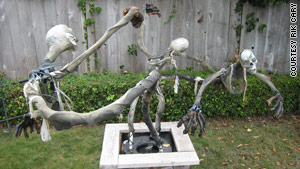 rik carys whirling spirits project combines a windshield wiper motor and a bicycle wheel - Extreme Halloween Decorations