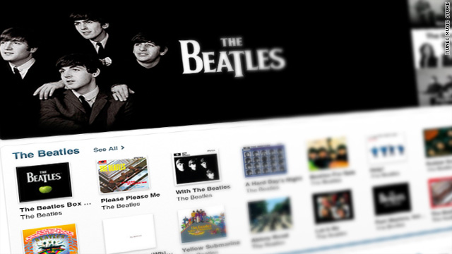 Beatles complete catalogue of studio albums, box set and singles are now available at iTunes.
